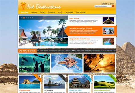 joomla travel template hot destinations hotthemes
