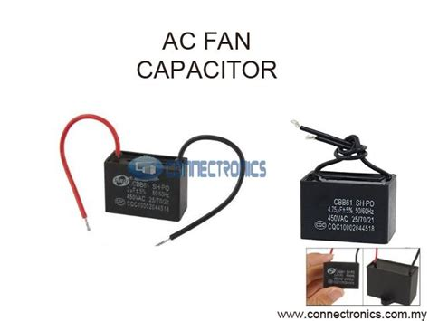 how to wire a capacitor to an ac unit ac fan motor capacitor with wire con end 6 4 2015 2 59 pm