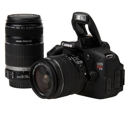 canon t3i dslr canon eos rebel t3i dslr 18 0mp w 2 lens kit
