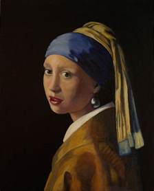 pearl earring painting with pearl earring painting by l antram