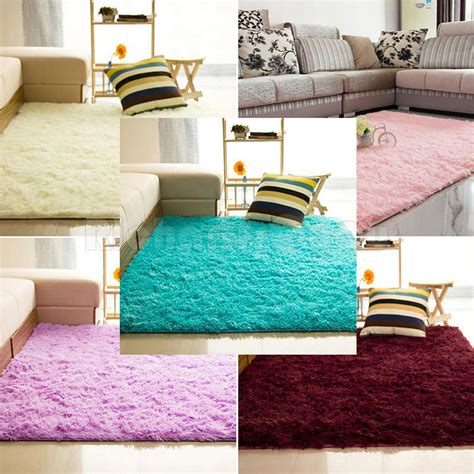 Fluffy Rugs Anti Skid Shaggy Area Rug Dining Room Home Fluffy Rugs For Bedroom