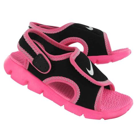 nike pink sandals black pink nike sunray adjust 4 td open toe sandals