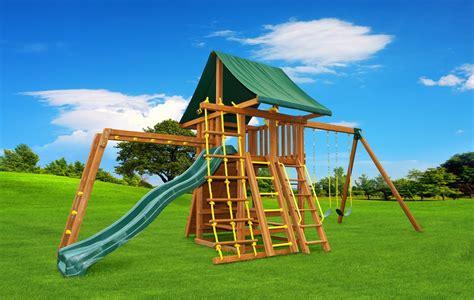 swing set with monkey bars straight base dream 3 wooden swing set eastern jungle gym