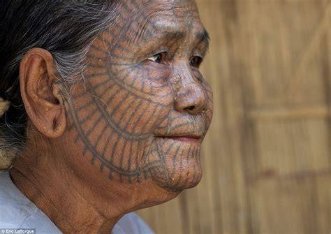 meet the last tattooed women of burma daily mail online