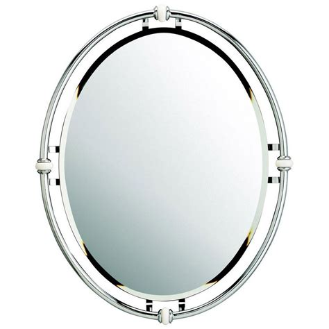 24 inch mirror kichler oval 24 inch mirror 41067ch destination lighting