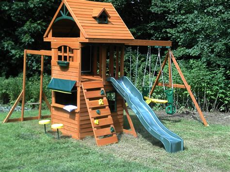 springfield swing set big backyard playhouses home outdoor decoration