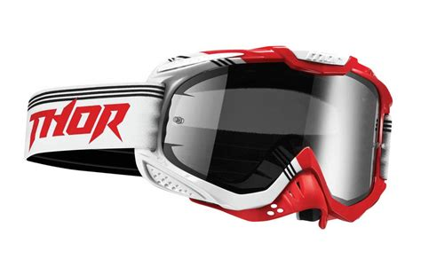 tinted motocross thor new mx ally bend dirt bike red white smoke tinted