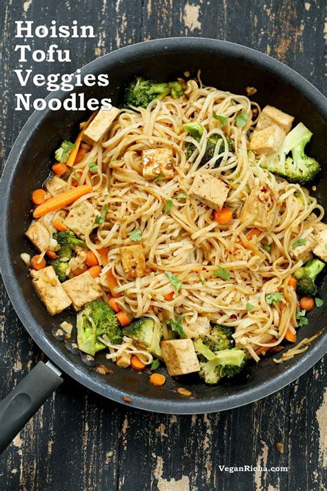 recipes for rice noodles vegetarian stir fried rice noodles with tofu and vegetables