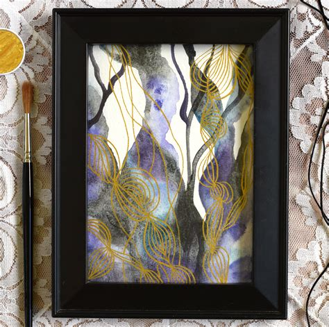 tutorial watercolor abstract watercolor gold abstract art tutorial the postman s knock