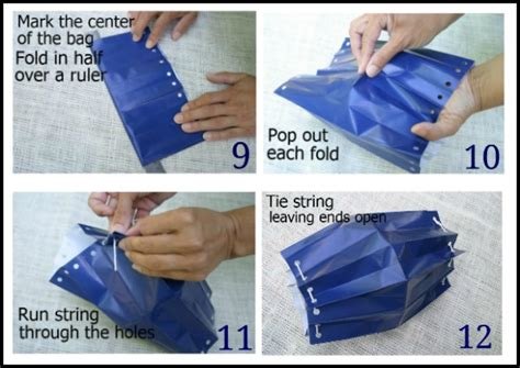 How To Make A Paper Bag Lantern - how to make paper bag lanterns hoosier