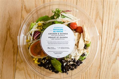 protein quinoa bowl starbucks new summer menu protein bowl and certified