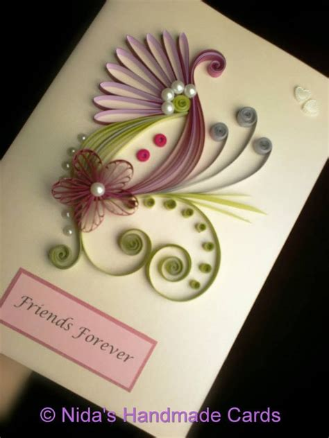Handcrafted Card - from nida s handmade cards quilling ideas