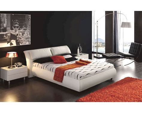 white modern bedroom set modern bedroom set monica in white made in spain 33b321