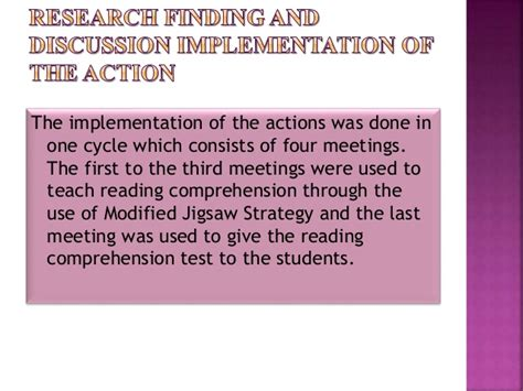 reading comprehension test validity the use of modified jigsaw strategy to improve the