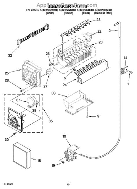 whirlpool refrigerator maker parts diagram whirlpool w10190935 maker module