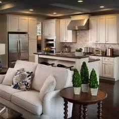 Small Open Concept Kitchen Living Room 1000 Ideas About Kitchen Living Rooms On Pinterest Open