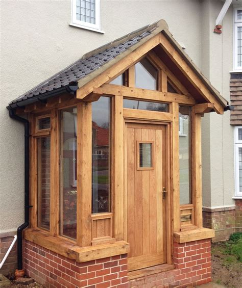 wood car porch handmade timber doors and porches classic suffolk