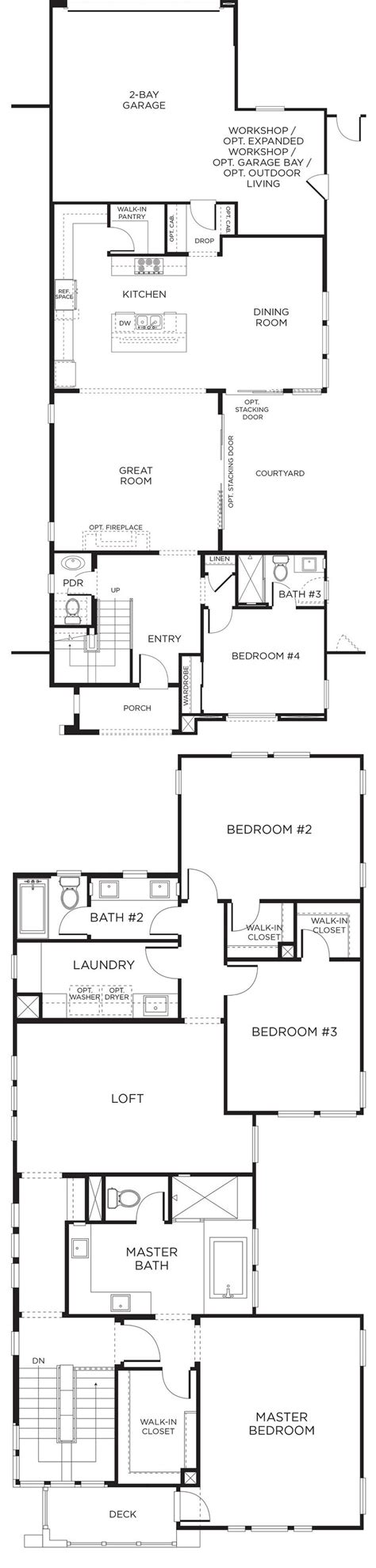 pardee homes floor plans casav 237 a floor plan 2 pardee homes sandiego newhomes