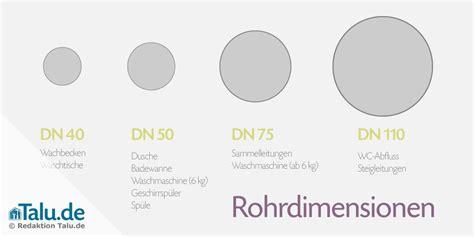 Abflussrohr Toilette Durchmesser by Abwasserleitung Wichtiges Zu Gef 228 Lle Durchmesser Und
