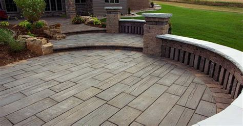 Patio Pavers That Look Like Wood Anyone Installed Barn Plank Or Timberstone Pavers Yet