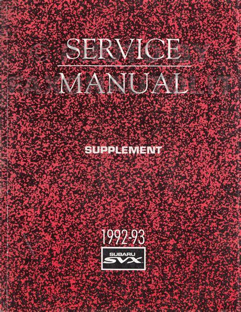 manual repair autos 1993 subaru svx electronic throttle control 1995 subaru svx repair shop manual supplement original