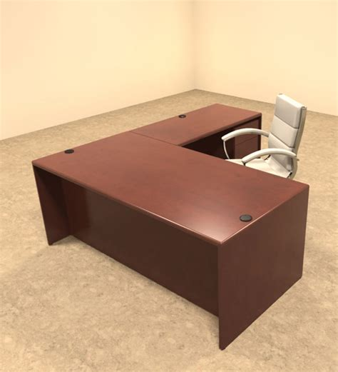 L Shaped Executive Office Desk 3pc L Shaped Modern Contemporary Executive Office Desk Set Ot Mar L3 Color4office