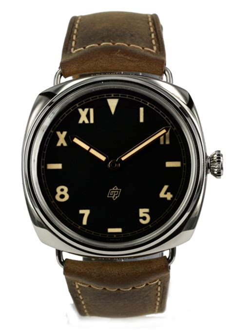 Panerai Radiomir Black Silver Brown Leather vintage panerai watches panerai s watches panerai