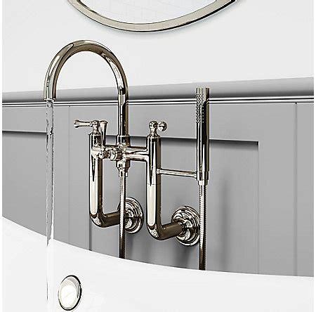 wall mounted bathtub filler polished nickel tisbury wall mounted tub filler lg6 3tbd
