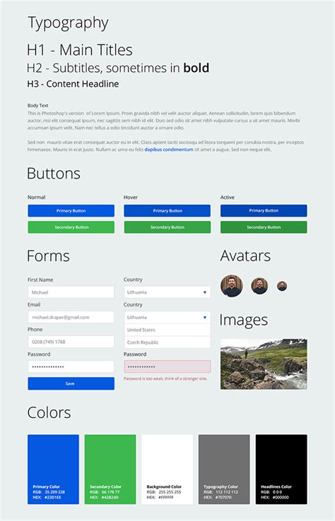 web ui tutorial designing a web app ui kit in adobe photoshop