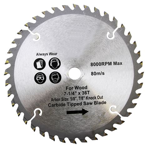 wood saw blade blades 7 1 4 inch 36 tooth carbide tipped wood saw blade
