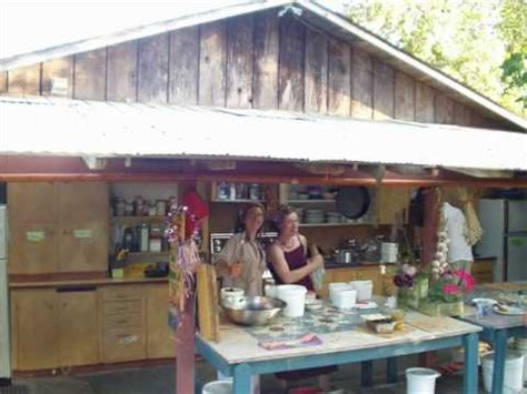 outdoor kitchens  permaculture farms  ecovillages