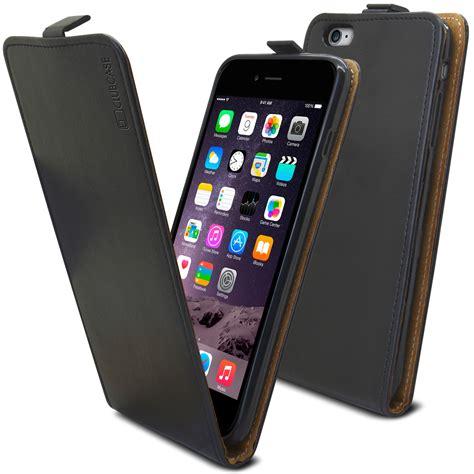 coque rabat vertical souple apple iphone 6 6s plus cuir v 233 ritable noir