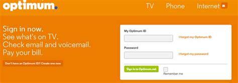 reset optimum online password my optimum online account registration on www optonline net