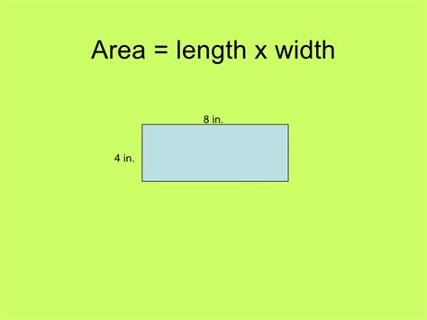 length of area length x width