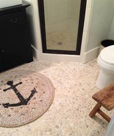 White Bathroom Floor by White Pebble Tile Pebble Tile Shop