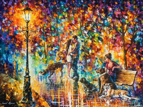 The Of Painting the park adventure palette knife painting on canvas