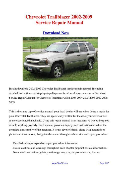 motor auto repair manual 2002 chevrolet trailblazer spare parts catalogs 28 2002 chevy trailblazer service manual free download 41042 chevrolet 2002 trailblazer