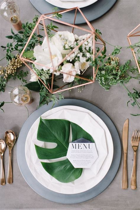 14 Geometric Wedding Table Decor Ideas   bridal because i