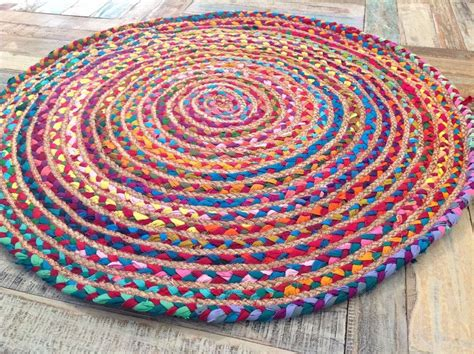 how to make rag rugs uk lovely fair trade loom braided cotton jute multi colour rag rugs r4 ebay