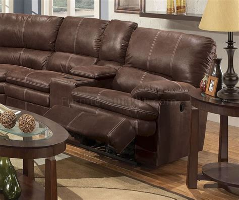 rustic sectional couch rustic brown microfiber reclining sectional w baseball