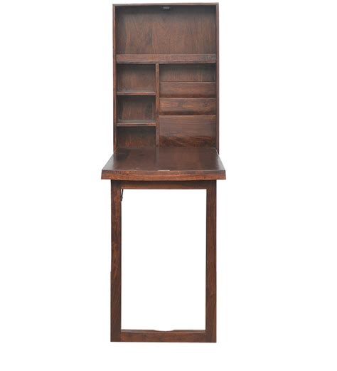 wall mounted study table valindor wall mount study table in brown colour by home