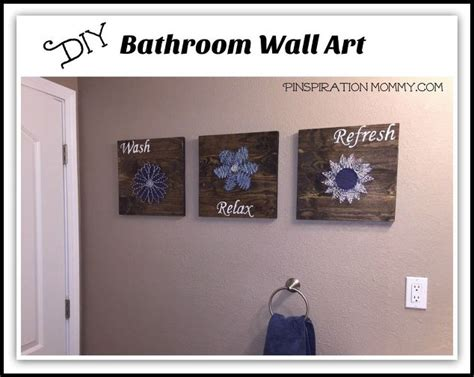 Bathroom Artwork Ideas by Diy Bathroom Wall String To Add A Pop Of Color