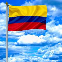 How To Texture Canvas For Painting - colombia waving flag against blue sky stock photo colourbox