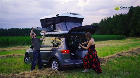 james baroud evasion evo dachzelt auf vw touran youtube