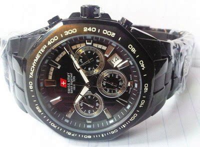Jam Swiss Army Dhc Leather Black jam tangan berkualitas swiss army dhc 8108