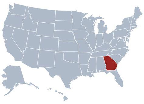 atlanta united states map state information symbols capital constitution