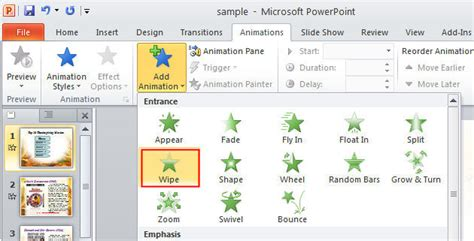 Animation Powerpoint 2010 Free Using Transitions And Animations Efficiently In Powerpoint