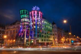 The dancing house in prague czech republic designed by frank gehry