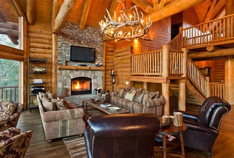 Small Log Home Interiors by 22 Luxurious Log Cabin Interiors You To See Log