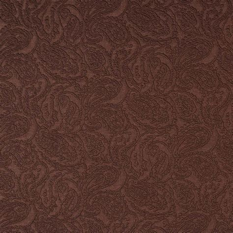 brown paisley upholstery fabric brown paisley jacquard woven upholstery grade fabric by